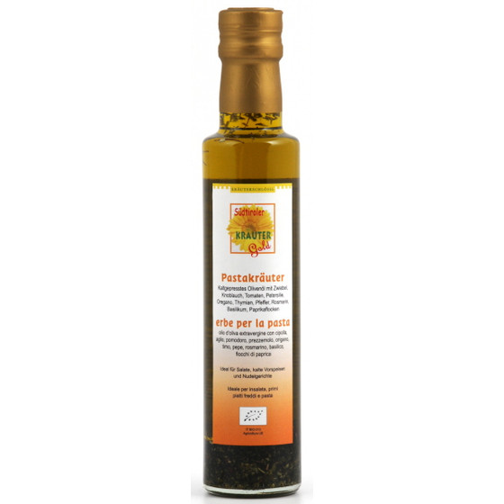 Olio di oliva con aromi per pasta 250ml IT BIO 013*